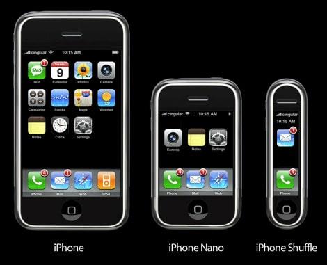 Ce qui pourrait être l'iPhone lite