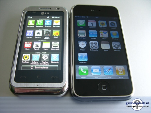 LG KM900 VS iPhone