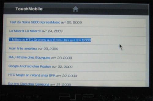 TouchMobie sur PSP