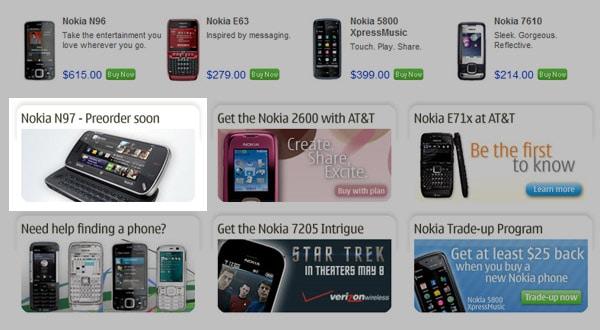 Precommande Nokia N97