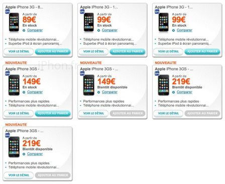 iPhone 3GS Bouygues Telecom