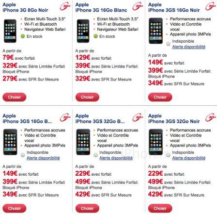 iPhone 3GS SFR