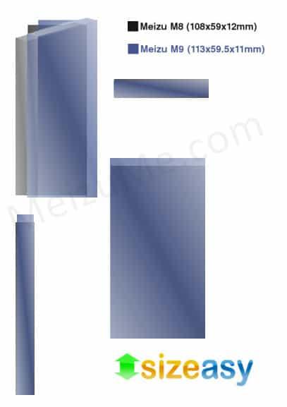 dimensions Meizu M9