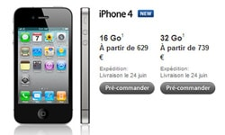 iphone 4 prix