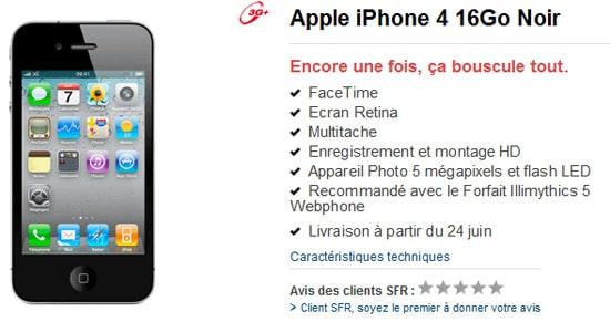 iphone 4 sfr