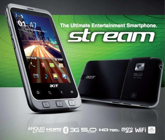 acer stream