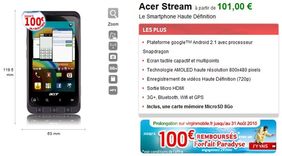 acer stream virgin mobile