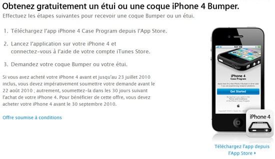 apple iphone 4 bumper gratuit