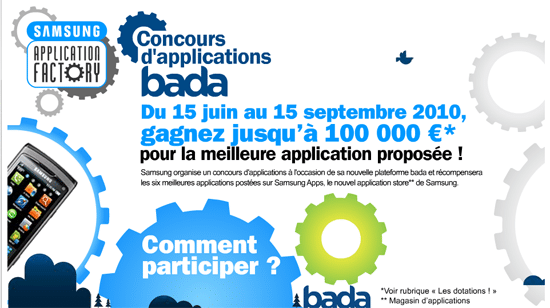 concours application bada samsung