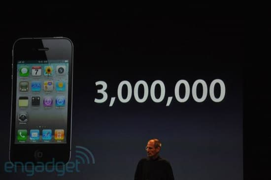 iphone 4 3 millions de vente