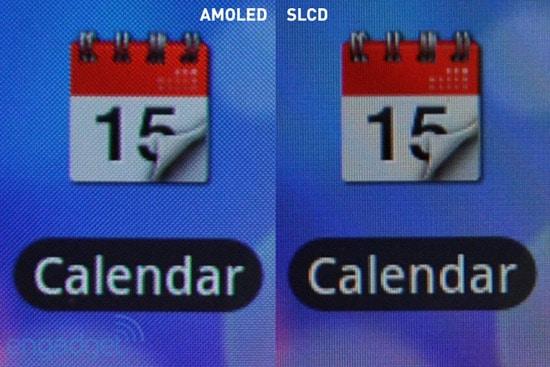 amoled vs s-lcd