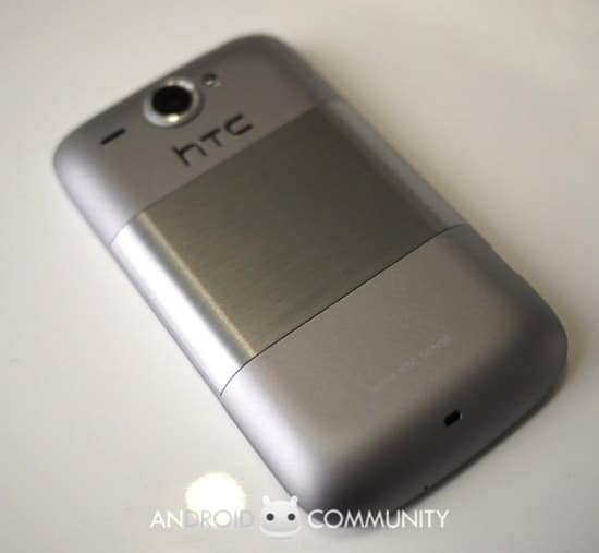 htc wildfire silver