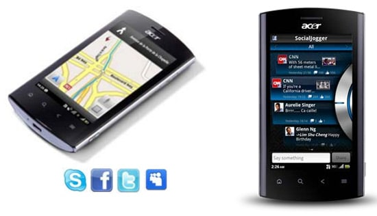 acer liquid metal gps social apps