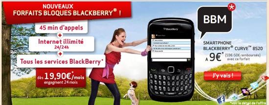 forfaits bloque blackberry