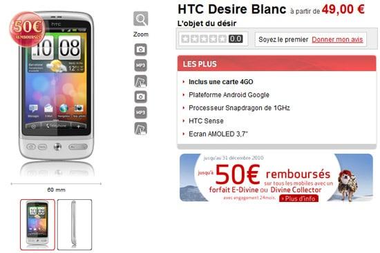 htc desire blanc virgin mobile