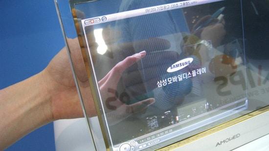 samsung ecran transparent