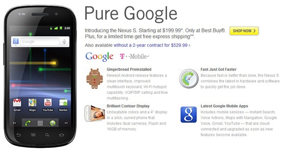 google nexus s best buy