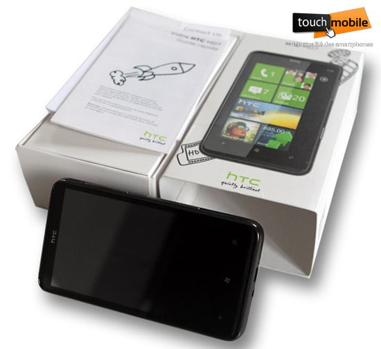 htc hd7 deballage