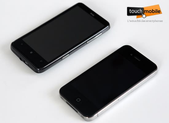 htc hd7 vs iphone 4