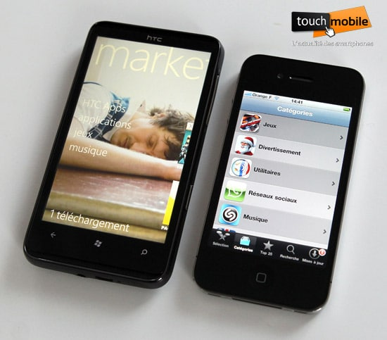 marketplace htc hd7 vs iphone 4