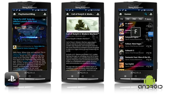 application playstation sous android