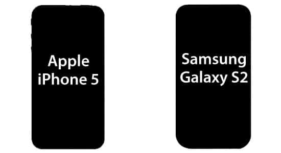 apple iphone 5 vs samsung galaxy s2