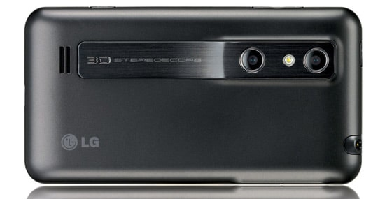 lg optimus 3d back