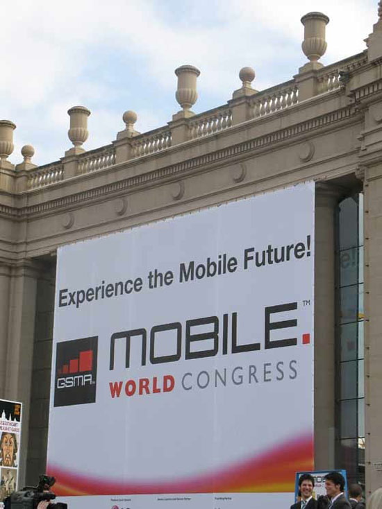 affiche mobile world congress du palais des congrès de barcelone