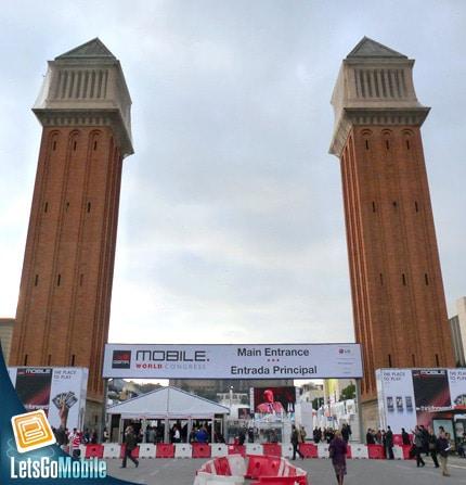 entrée du palais des congrès de barcelone
