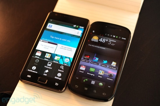 samsung galaxy s2 vs nexus s