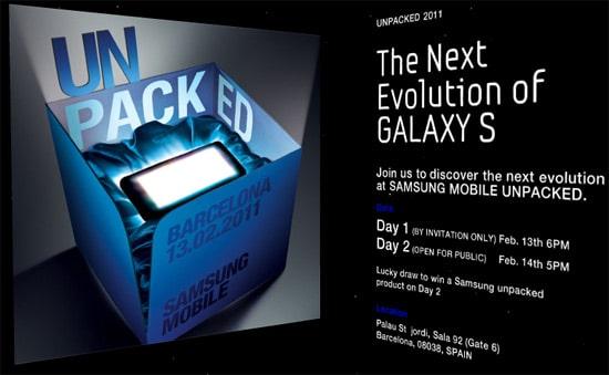 unpacked samsung galaxy s 2
