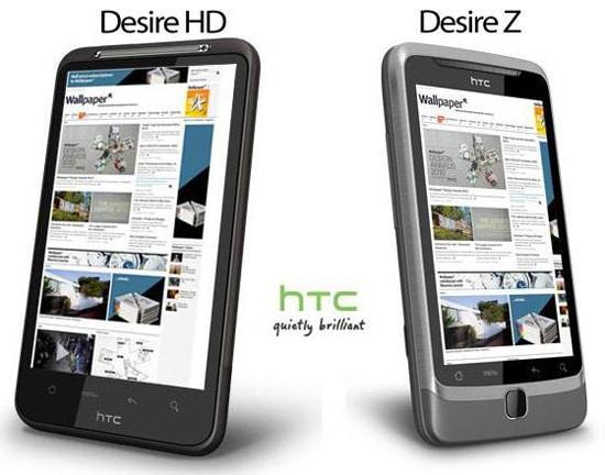 htc desire HD et desire Z