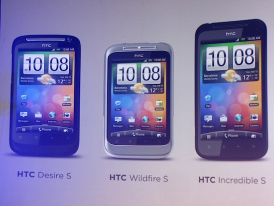 htc desire s wildfire s incredible s