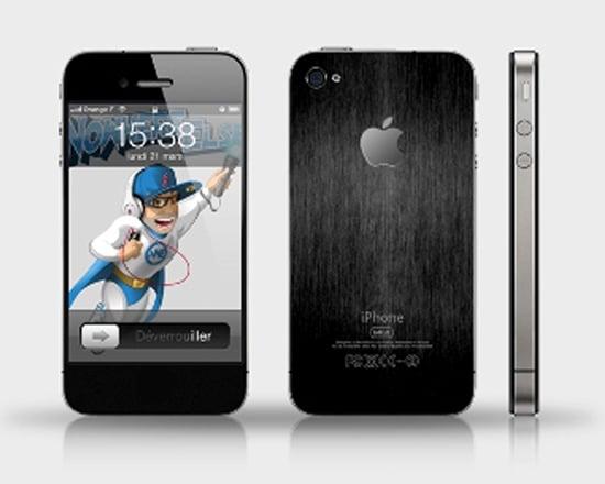 prototype iphone 5 archétype de l'iphone 4 avec le dos alu brossé