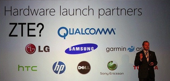 windows phone 7 hardware partner