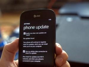 smartphone avec paramètre mise à jour windows phone 7