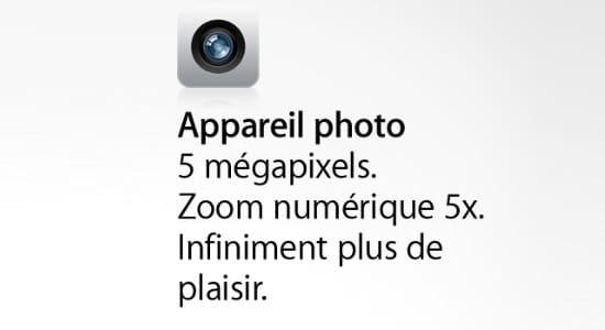 appareil photo numerique iphone 4