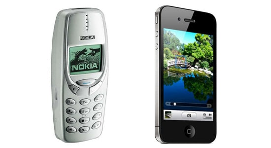 epaisseur nokia 3310 iphone 4