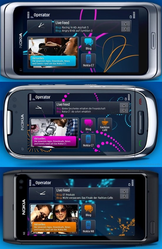 homescreen symbian