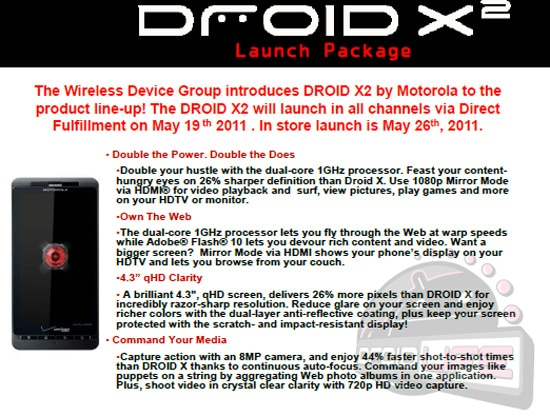 motorola droid x2 verizon