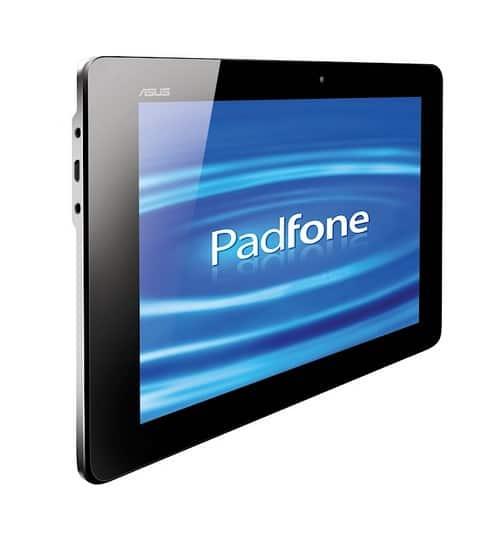 vue de face de la tablette du padfone