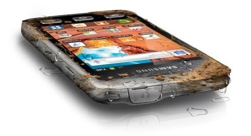 Samsung Galaxy XCover vue de haut