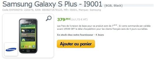 Samsung Galaxy S Plus chez Expansys