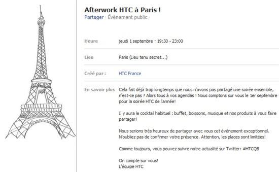afterwork htc paris