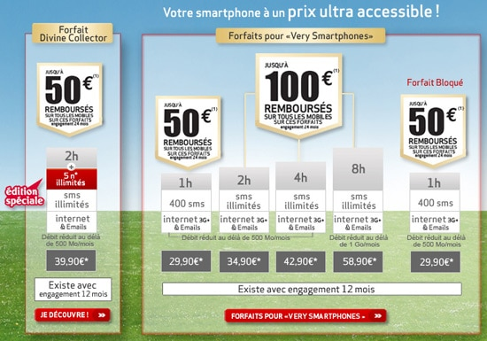 forfait very smartphone virgin mobile