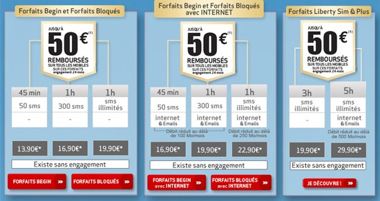 forfaits begin bloques liberty virgin mobile