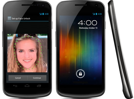 google galaxy nexus front