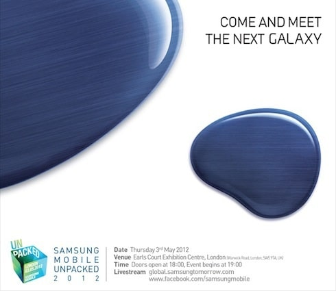 Invitation Samsung Galaxy s3