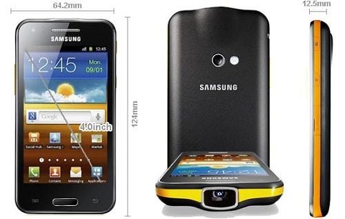 Samsung-Galaxy-Beam dimensions