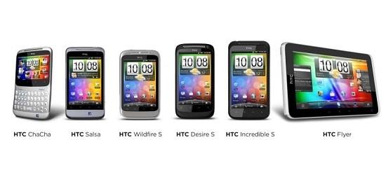 HTC Gamme présentée au MWC 2011